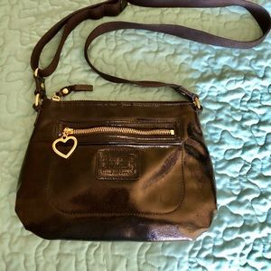 """COACH small patent leather bag 7""""x10"""""""